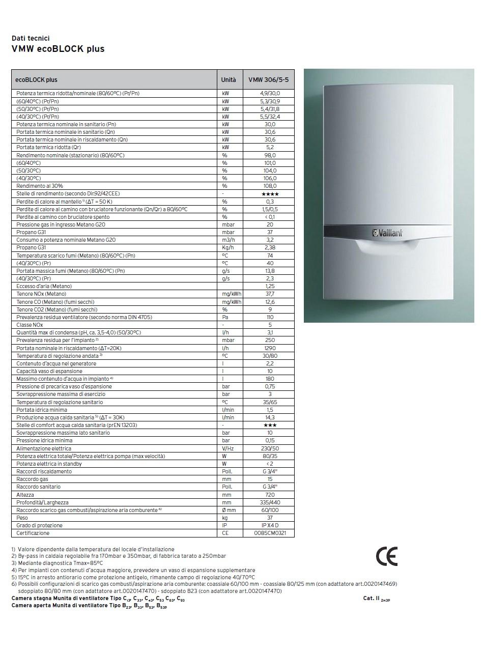 IdroOutlet - CALDAIA VAILLANT ECOBLOCK PRO CONDENSAZIONE VMW286/5-3 CAMERA STAGNA METANO